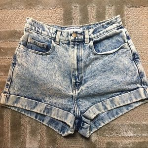 American Apparel Shorts - AMERICAN APPAREL- High waisted acid wash denim, 27